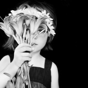 Girl with flowers - mask series